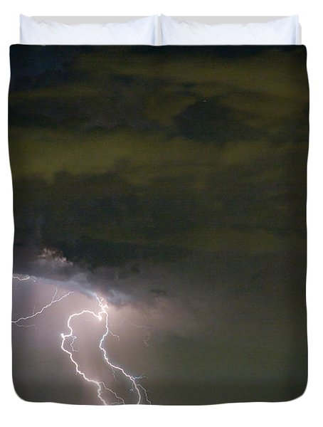 Lightning Man In The Clouds Duvet Cover by James BO  Insogna