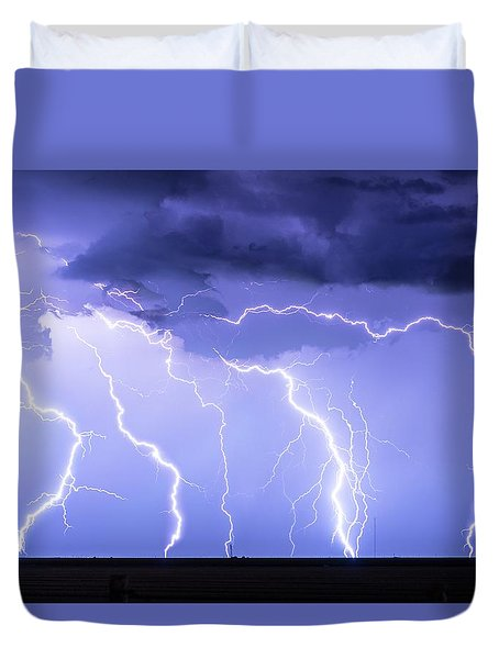 Lightning On The Plains Duvet Cover