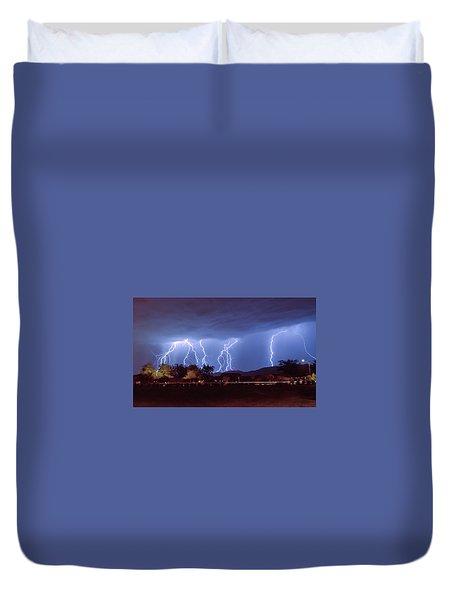 Lightning Over Laveen Duvet Cover by Kimo Fernandez