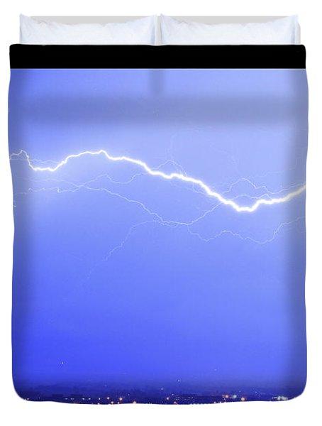 Lightning Over North Boulder Colorado  Poster Sp Duvet Cover