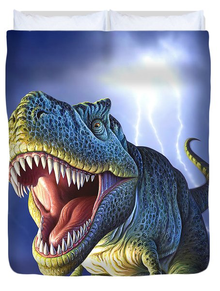 Lightning Rex Duvet Cover