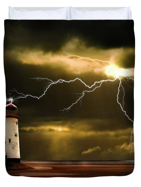 Lightning Storm Duvet Cover