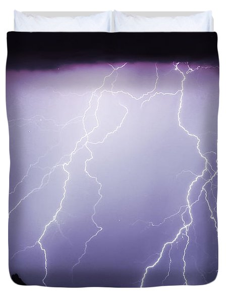 Lightning Storm North Scottsdale Az 85255 Duvet Cover by James BO  Insogna