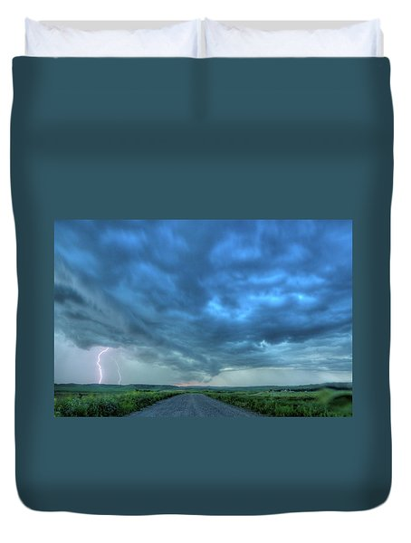 Lightning Strike Duvet Cover