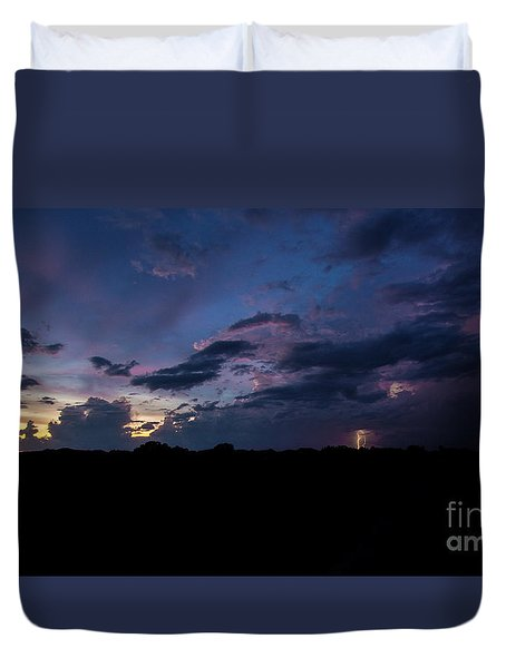 Lightning Sunset Duvet Cover