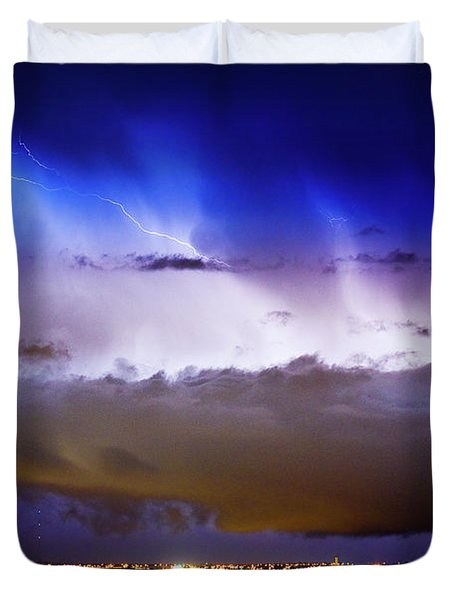 Lightning Thunder Head Cloud Burst Boulder County Colorado Im39 Duvet Cover by James BO  Insogna