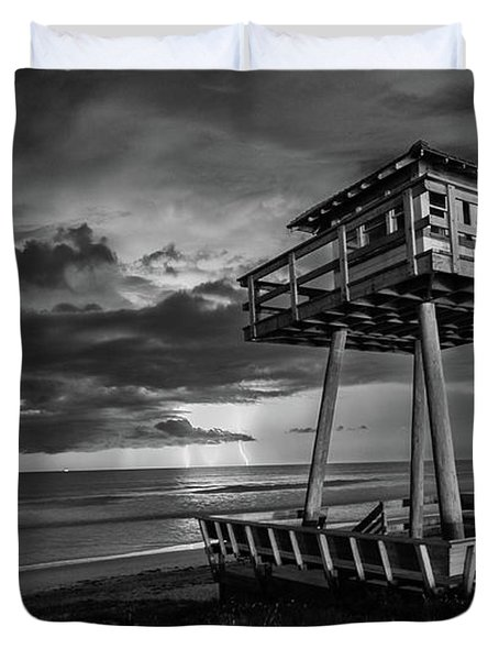Lightning Watch Tower Duvet Cover