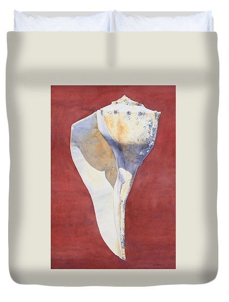 Lightning Whelk Conch I Duvet Cover