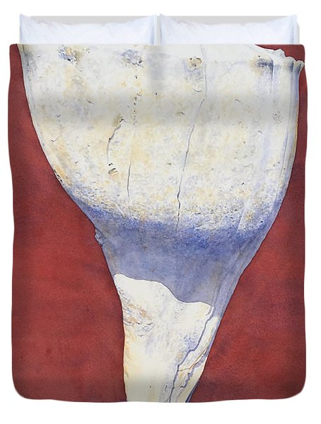 Lightning Whelk Conch II Duvet Cover
