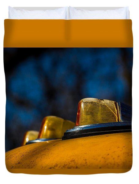 Duvet Cover featuring the photograph Lights by Jay Stockhaus