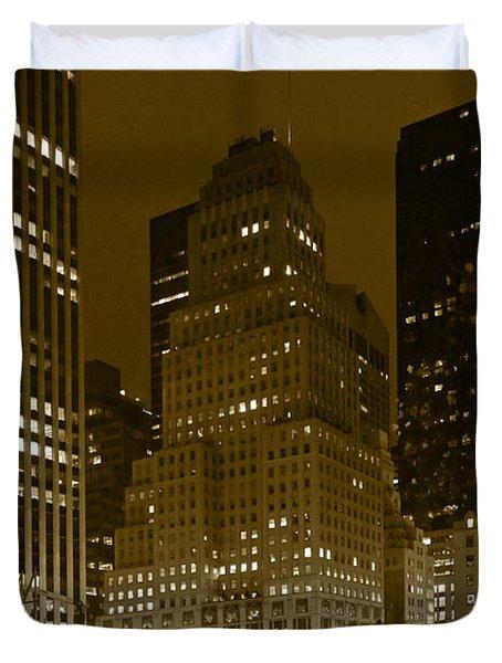 Lights Of 5th Ave. Duvet Cover