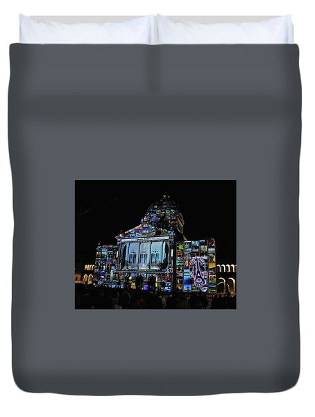 Lights Of Bern Duvet Cover