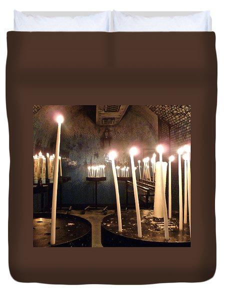 Lights Of Hope Duvet Cover by Amelia Racca