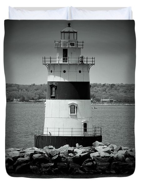 Lights Out-bw Duvet Cover