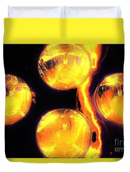 Lights Under Glass3 Duvet Cover
