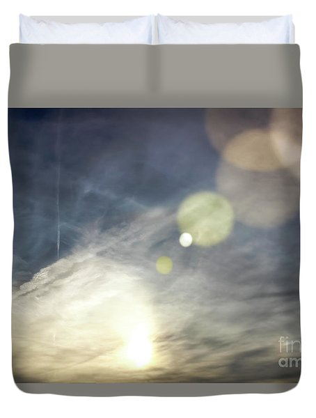 Duvet Cover featuring the photograph Lightshow by Colleen Kammerer