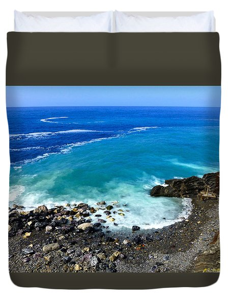 Ligurian Coastline Duvet Cover