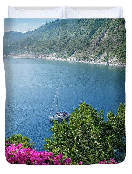 Ligurian Sea, Italy Duvet Cover