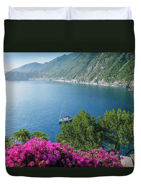 Ligurian Sea, Italy Duvet Cover