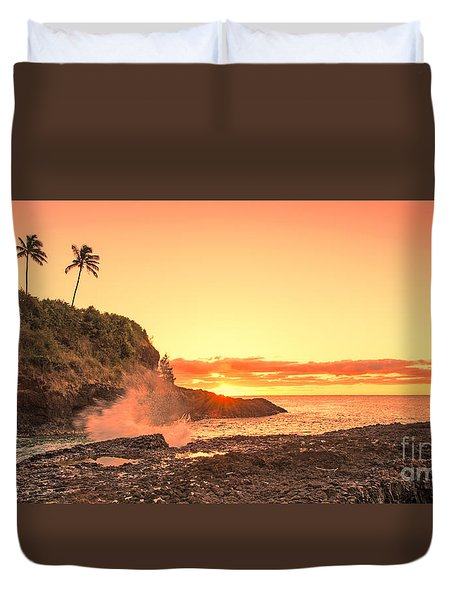Lihu'e Sunrise Duvet Cover
