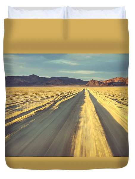 Like A Band Of Gypsies We Go Down The Desert Duvet Cover