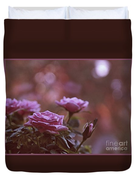 Duvet Cover featuring the photograph Like A Fine Rosie Of Pastels by Lance Sheridan-Peel