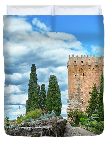 Like A Fortress In The Sky Duvet Cover