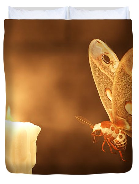 Like A Moth To A Flame Duvet Cover