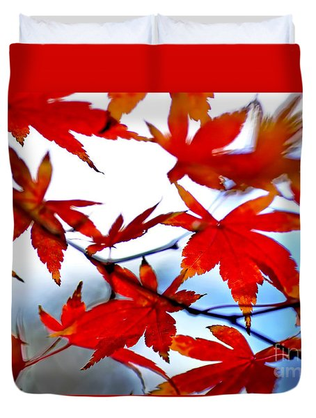 Like Autumn Butterflies In The Breeze Duvet Cover by Kaye Menner