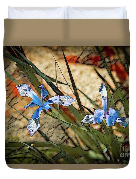 Like Blue Birds Of Happiness Duvet Cover