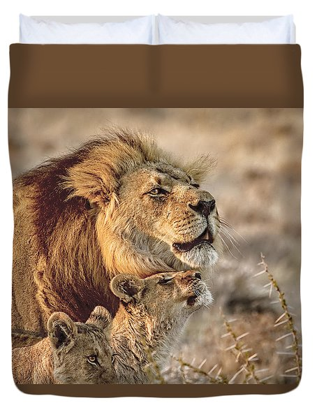 Like Father Like Son Duvet Cover