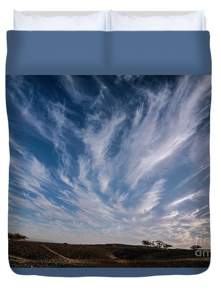 Like Feathers In The Sky Duvet Cover