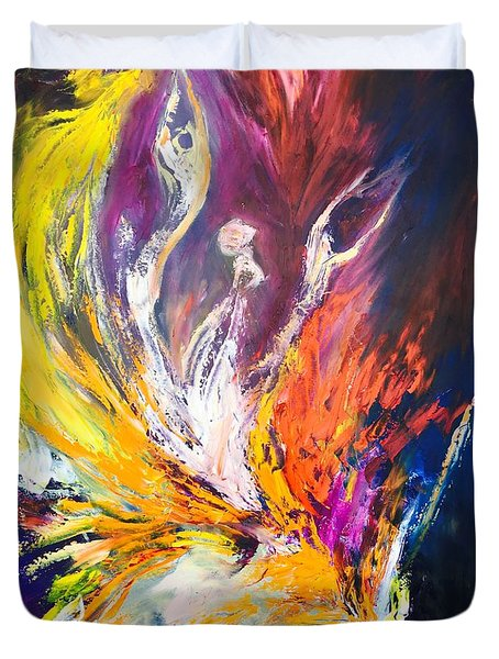 Like Fire In The Wind Duvet Cover by Marat Essex