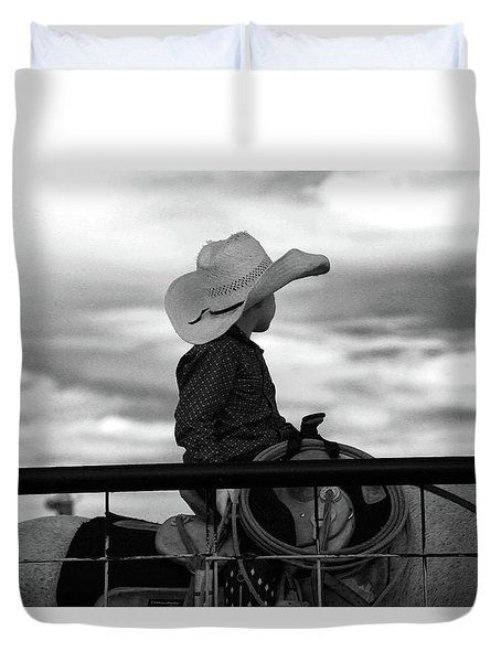 Lil Cowboy Gonna Rope Duvet Cover
