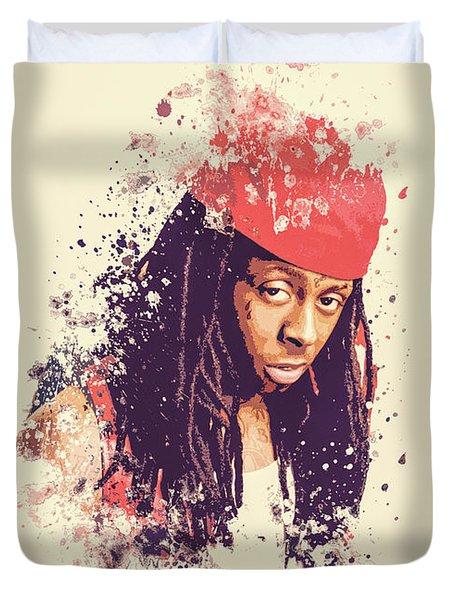 Lil Wayne Splatter Painting Duvet Cover