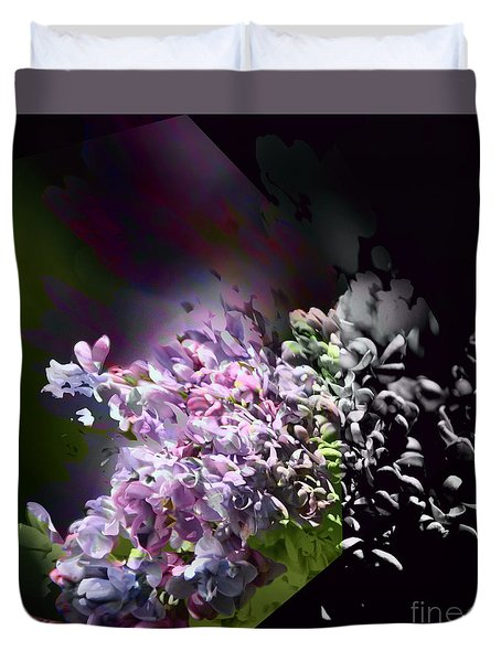 Lilac 2 Duvet Cover by Elaine Hunter