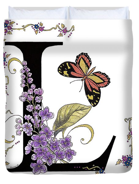 Lilac And Large Tiger Butterfly Duvet Cover