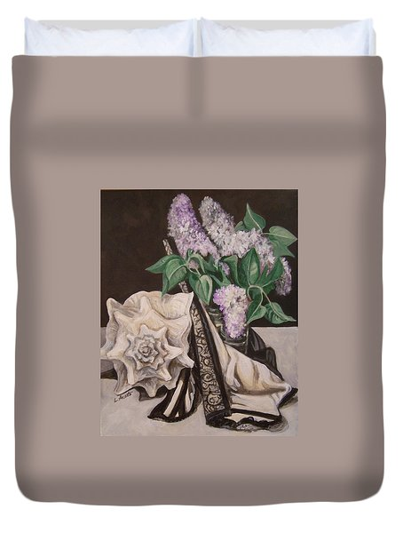 Lilac And Lingerie Duvet Cover