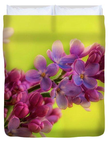 Lilac Blooms Duvet Cover by Gabriela Neumeier