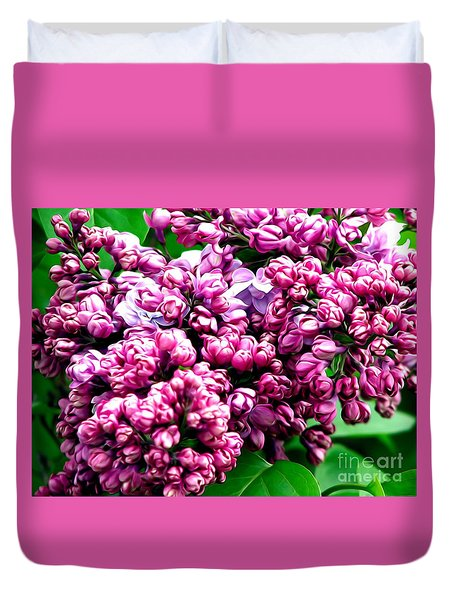 Lilac Blossoms Abstract Soft Effect 1 Duvet Cover