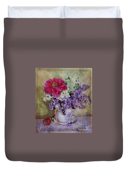 Lilac Bouquet Duvet Cover by Alexis Rotella