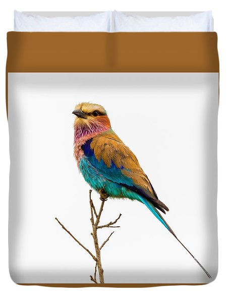 Duvet Cover featuring the photograph Lilac-breasted Roller by Stefan Nielsen