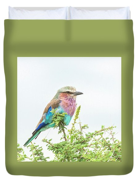Lilac Breasted Roller. Duvet Cover