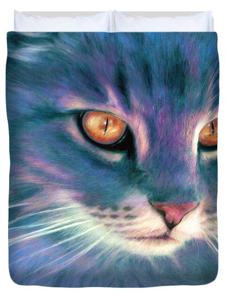 Lilac Cat Duvet Cover