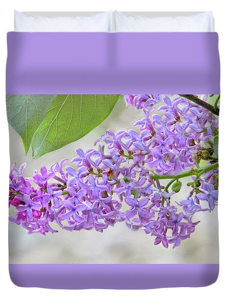 Duvet Cover featuring the photograph Lilac Cluster by Skip Tribby