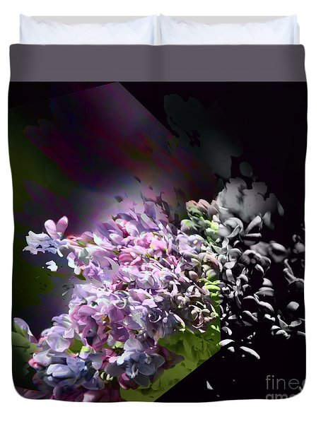 Lilac Duvet Cover by Elaine Hunter
