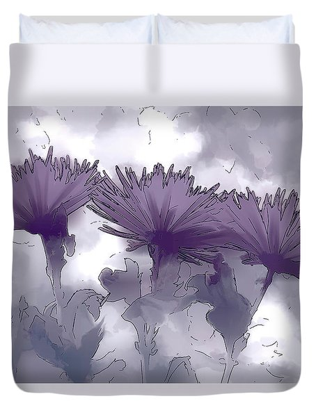 Lilac Fancy Duvet Cover