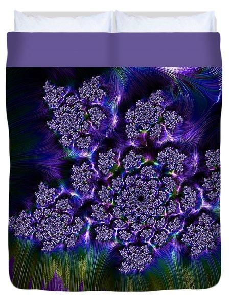 Lilac Fractal Duvet Cover