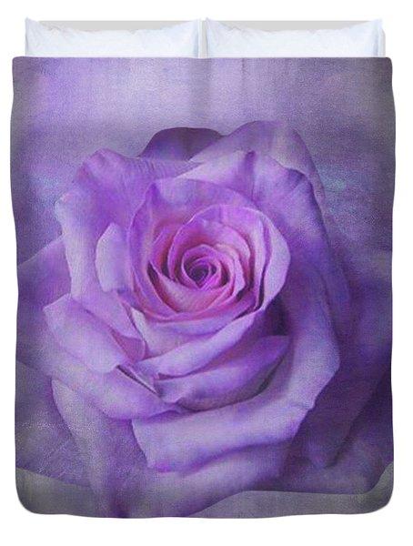 Lilac Purple Rose Duvet Cover
