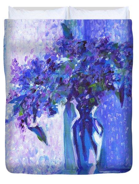 Lilac Rain  Duvet Cover